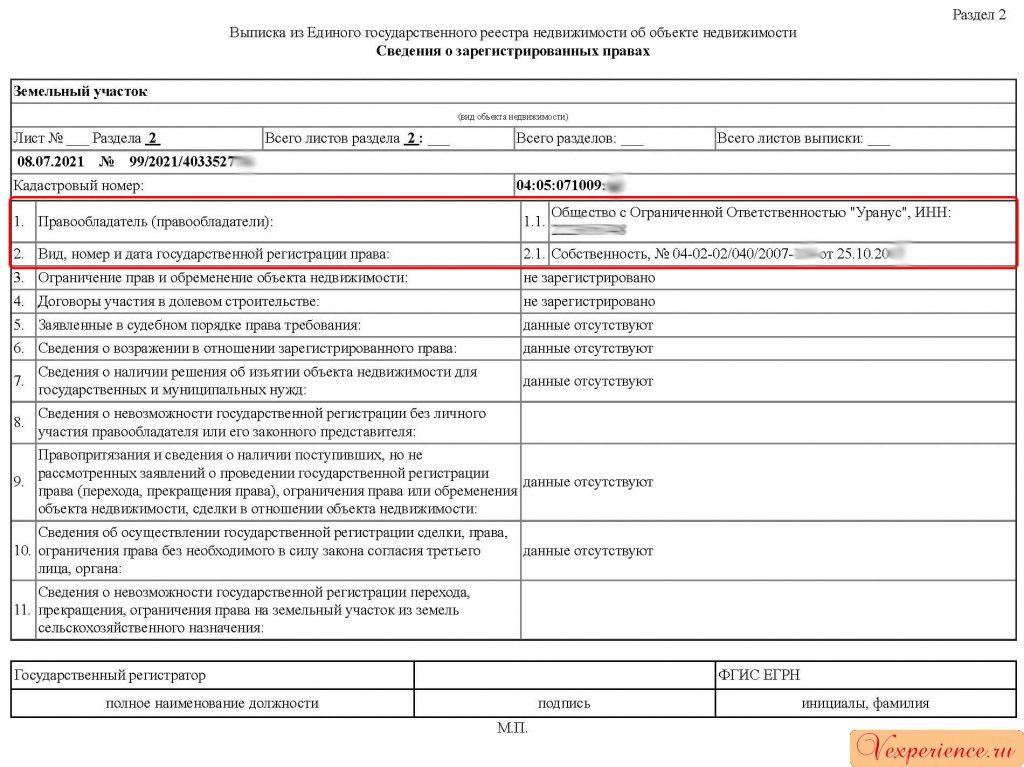 Выписка ЕГРН подтверждает постановку объекта на кадастровый учет и регистрацию прав.